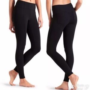 Athleta Metro Black  Leggings Pockets XS